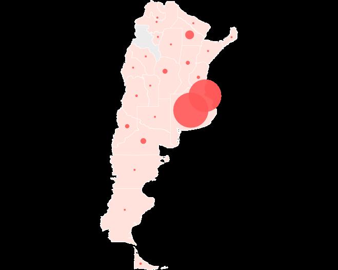 Fuente: Ministerio de Salud de la Nación. • Nota: en Tierra del Fuego se contabilizan 13 casos existentes de las Islas Malvinas.